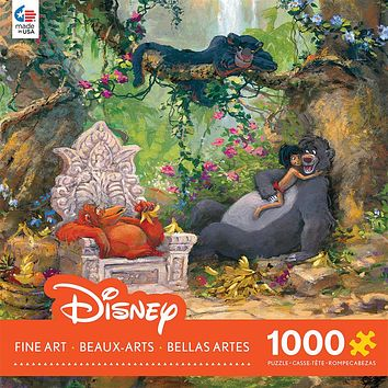 Disney Ceaco Fine Art Coleman Jungle Book 1000 Pcs Puzzle New with Box