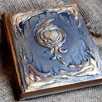 "Antique book, Magic Book, Book of shadows, Diary 21 cm x 17 cm ( 8.3"" x 6.7"")"