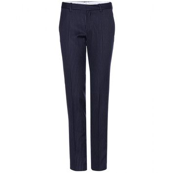 each x other - pinstriped wool trousers