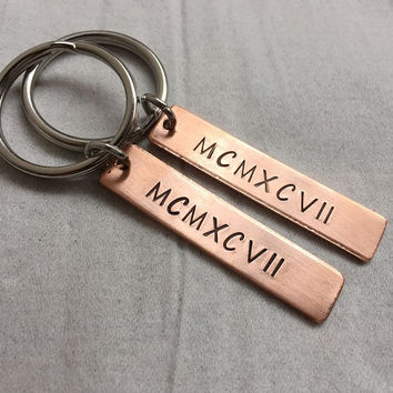 Anniversary keychains for husband & wife, personalized keychains for mom dad, Couples keychains for boyfriend girlfriend, his hers Gift