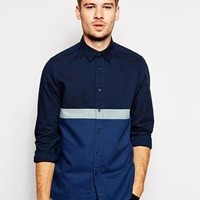 ASOS | ASOS Oxford Shirt In Long Sleeve With Stripe at ASOS