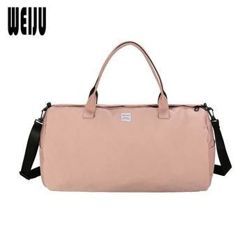 WEIJU Women Travel Bag 2017 New Cylindrical Woman Handbag Luggage Bag Casual Traveling Shoulder Bags Mala Viagem