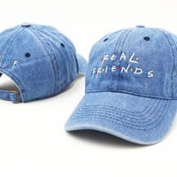 Cool Real Friends Sports Embroidered Baseball Cap Unisex Hats