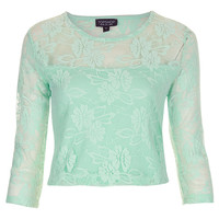 Half Sleeve Lace Crop Top - New In This Week - New In - Topshop