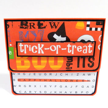 Halloween 3D Trick or Treat Gift Card Holder