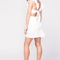 Cut Out Ruffle Dress