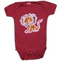 Baby Batik Organic Cotton Short Sleeve Onesuit-Red Lion