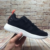 Best Online Sale Adidas NMD R2 Core Black BY9314 Boost Sport Running Shoes Classic Casual Shoes Sneakers