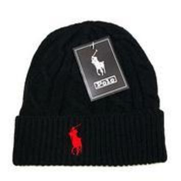 hcxx POLO Merino Wool Hat Black-Red