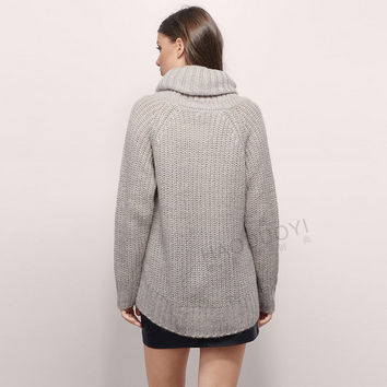Knitted turtle neck sweater plus size laveliq