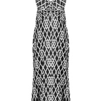 Diamond Print Knotted Summer Holiday Resort Beach Maxi Dress