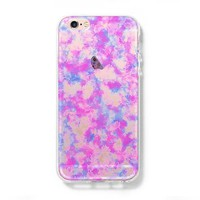Pastel Abstract iPhone 6 Case iPhone 6s Plus Case Galaxy S6 Edge Clear Hard Case C156