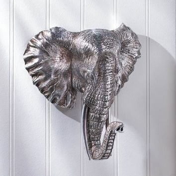 Sensational Wall Mounted Elephant Bust Plaque
