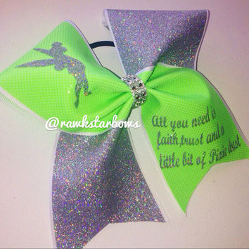 Tink Tinkerbell Cheer Bow Disney Princess Fairy