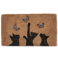 Cat and Butterfly -- Full Sized Door Mat