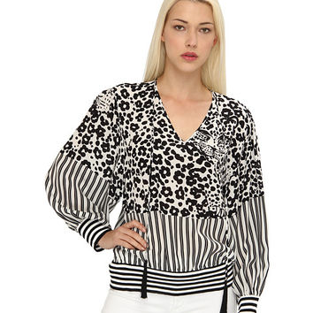 See by Chloe L/S Blouse w/ Drawstring Neck Line And Gathered Waist