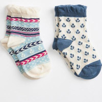 Organic Cotton Socks Two-Pack Harvest