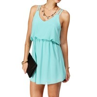 Pre-Order: Mint Double Strap Chiffon Dress