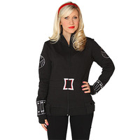 Black Widow Ladies' Zip-Up Jacket - Black,
