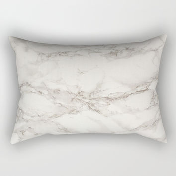 Marble Stone Texture Rectangular Pillow by Smyrna