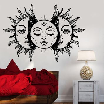 Vinyl Wall Decal Art Sun Star Moon Bedroom Decor Fairy Tale Stickers Unique Gift (1292ig)