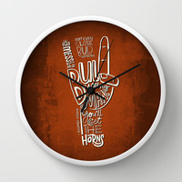 Mess With The Bull (orange) Wall Clock by Gigglebox