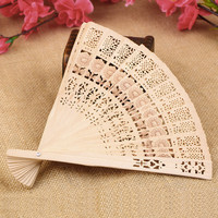 Wholesale Price Retro Hollow Folding Wooden Carved Print Fragrant Hand Fan Gifts Summer Accesory Art New Arrival $3.97 http://hespirides.com