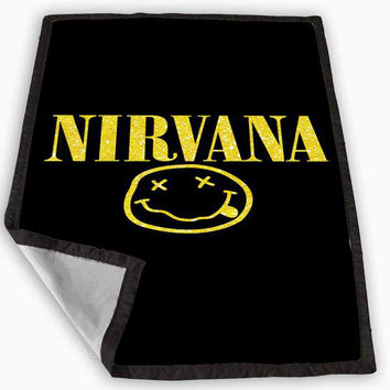 Nirvana Sparkly Glitter Blanket for Kids Blanket, Fleece Blanket Cute and Awesome Blanket for your bedding, Blanket fleece **