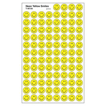 Sticker Neon Yellow Smiles Superspots