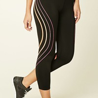 Active Striped Capri Leggings
