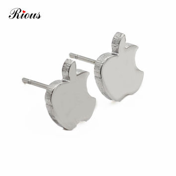 cc shourouk Earrings set Shining punk style stainless steel round stud Earrings For Women limited Time Surprise price