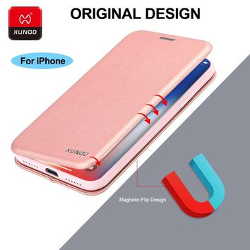 Luxury 360 Full Protect Case For iPhone X Xr Xs Max 6 7 8 Plus Phone Leather Bracket Shockproof Protective Back Flip Cover Cases