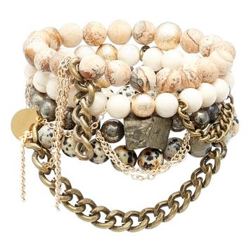 The Lace Project Set of 4 Stretch Bracelets | Nordstrom