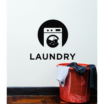 Vinyl Wall Decal Laundry Room Dry Cleaning Service Washing Bathroom Stickers Mural (g709)