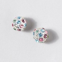 Rainbow Pavé Stud Earrings  | Claire's