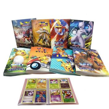 Pikachu Collection 120 Pokemon Cards Album Book French Card Holder Note Hold Playing Pokemon Action Figure Christmas Gifts