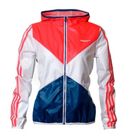 ADIDAS Women Cardigan Jacket Coat Windbreaker