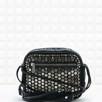 Deena & Ozzy Hexagon Studded Cross-Body Bag in Black - Urban Outfitters