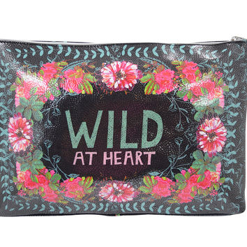Wild At Heart Gypsy Rose Oil Cloth Large Make-up or Accessory Travel Bag