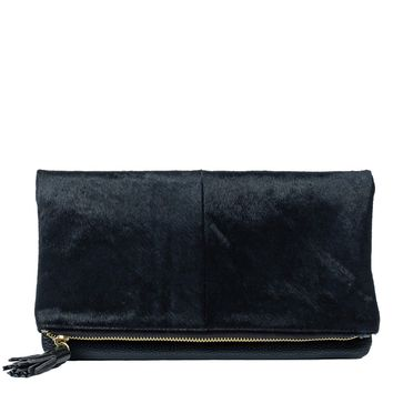 Toss Seville Fold Over Clutch - Black
