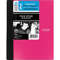 Five Star Advance Notebook 6 x 9 12 2 Subjects College Ruled 100 Sheets by Office Depot & OfficeMax