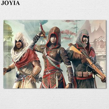 Assassins Creed 2 Poster Classical Games Posters Assassin's Creed Chronicles Fantasy Action Game Prints Wall Art Bedroom Decor