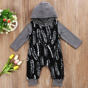 USA Newborn Baby Boys Clothes Hooded One-pieces Romper Jumpsuit Playsuit Outfits