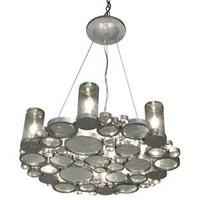 Eco Luz: Fascination Six Light Chandelier Varaluz Glass Shade Chandeliers Ceiling Lighting