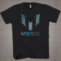 Messi Initials M  Mens and Women T-Shirt Available Color Black And White