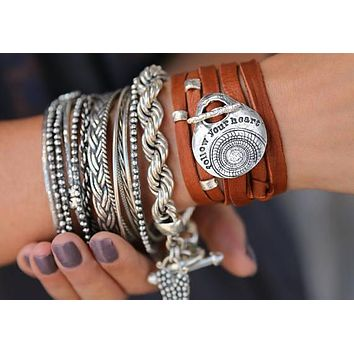 Boho Jewelry Leather Wrap Bracelet