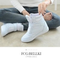 Ankle Boots Heels Shoes Women Casual Shoes Height Increased Wedges Shoes [8834071948]