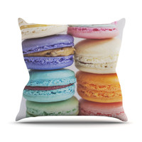 "Libertad Leal ""I Want Macaroons"" Outdoor Throw Pillow"