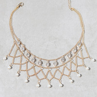 LA Hearts Faux Diamond and Pearl Choker at PacSun.com