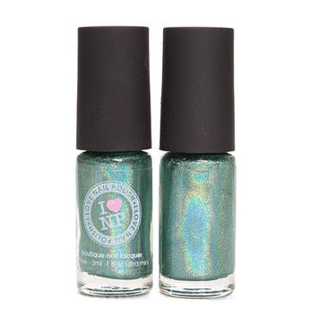 1st and 15th ULTRA MINI - Green Ultra Holographic Nail Polish